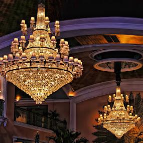 Glistening Chandeliers by Luanne Bullard Everden - Buildings & Architecture Other Interior ( details, lighting, buildings, architecture, hotels,  )
