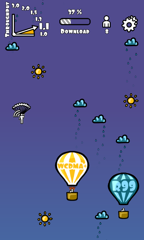 WCDMA+ Balloon Race - screenshot