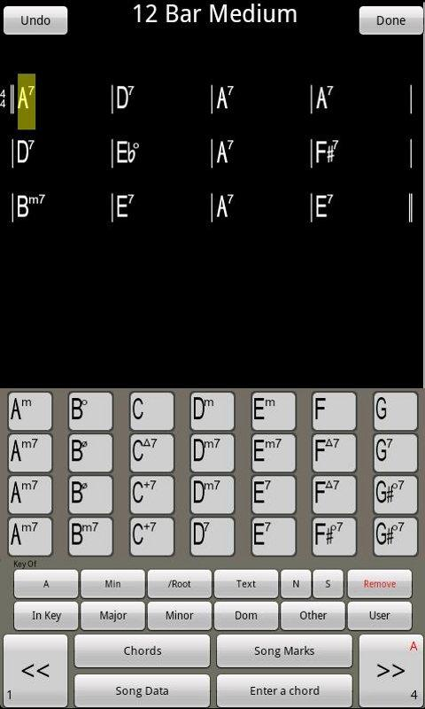 ChordPad - Android Chord Book- screenshot