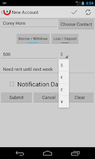 iOu (I owe you)Debt Calculator - screenshot thumbnail