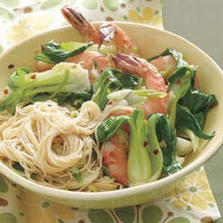 Spicy Shrimp and Bok Choy.