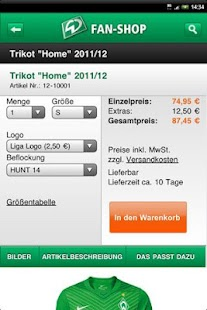 SV Werder Bremen - screenshot thumbnail