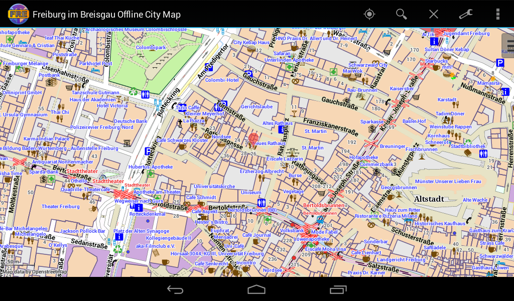 freiburg im breisgau city map android apps on google play. Black Bedroom Furniture Sets. Home Design Ideas