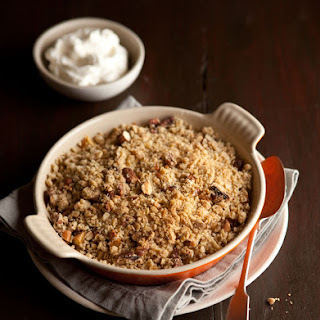 Oat & Nut Apple Crumble With Cranberries & Orange.