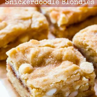 White Chocolate Snickerdoodle Blondies.