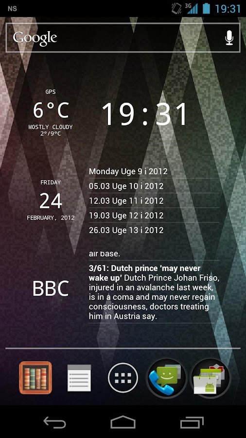 Glass Widgets ICS - screenshot