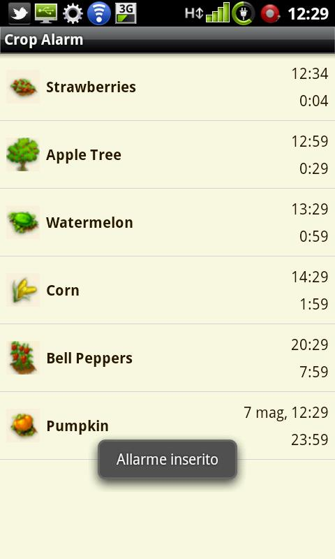 Crop Alarm - screenshot