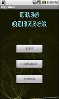 Screenshot of Trig Quizzer