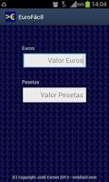 Screenshot of EuroFacil - de Euros a Pesetas