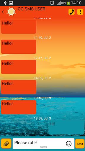 GO SMS 프로 일몰