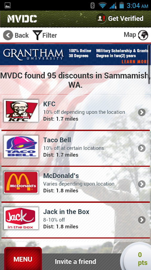 MVDC Military & Vet Discounts- screenshot