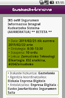 Screenshot of Euskadinnova.eu