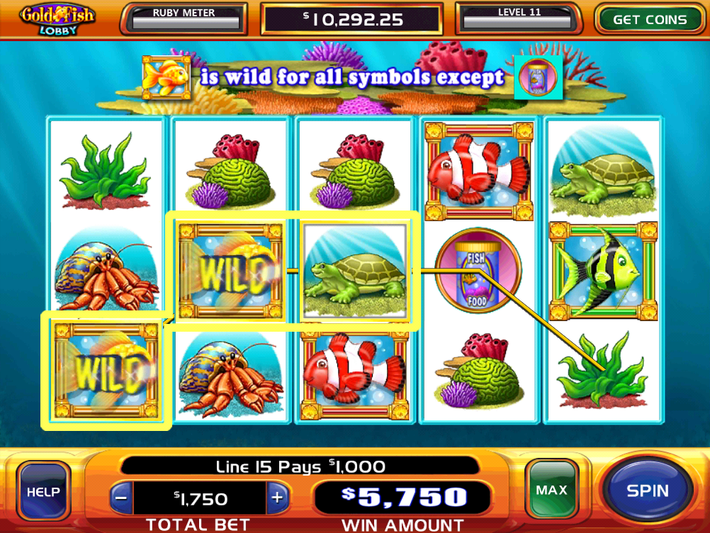 gold fish casino slots screenshot