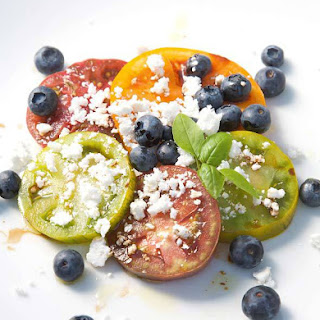 Blueberry and Tomato Summer Salad for One Recipe