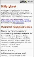 Screenshot of Hälytykset