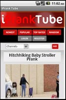 Screenshot of iPrankTube