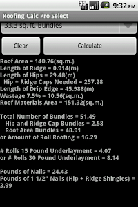 Roofing Calc Pro Select screenshot 5