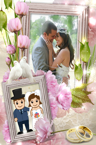 photofunia frames of marriage couple
