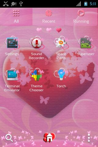 GO Launcher EX Theme Hearts - screenshot