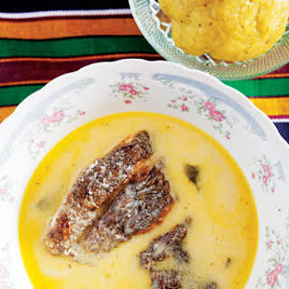 Hudutu (Fish and Coconut Stew with Mashed Plantains).