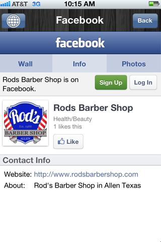 Rod's Barber Shop - screenshot