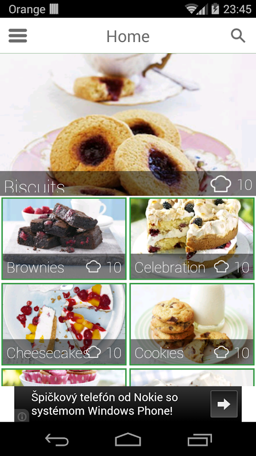 100 cakes & bakes recipes - screenshot