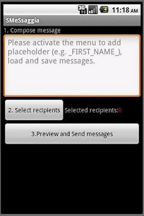 SMeSsaggia bulk customized SMS- screenshot thumbnail