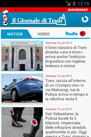 Radiobombo - IlGiornaleDiTrani- screenshot