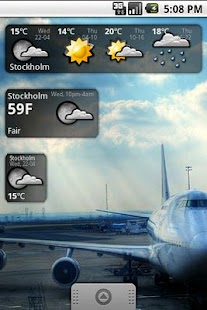 Snowstorm weather widget- screenshot thumbnail
