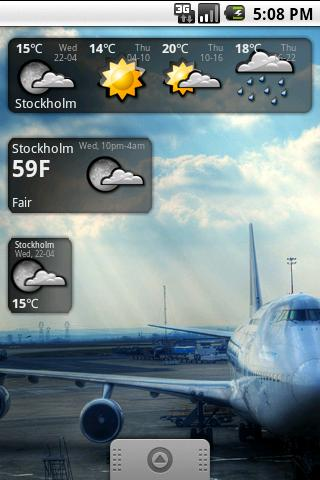Snowstorm weather widget- screenshot