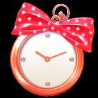 月と太陽の占い時計 -cute- icon