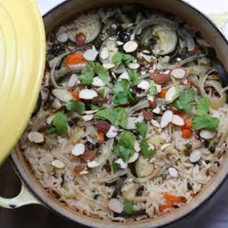 Coconut-Vegetable Rice Pilaf.