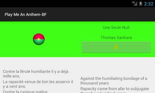 【免費教育App】Play Me an Anthem-Burkina Faso-APP點子