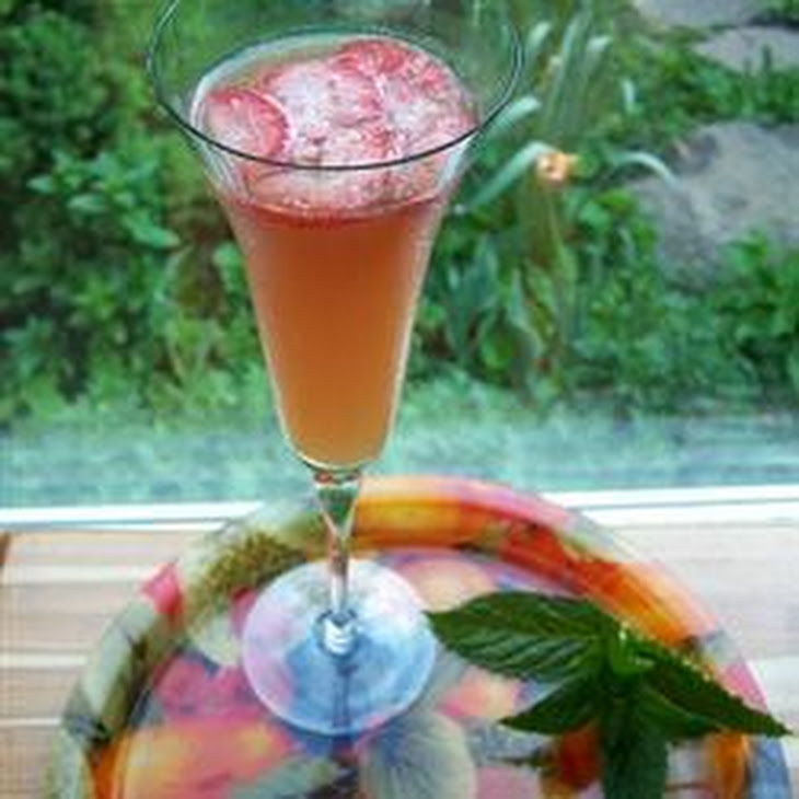 Juicy Fruit Punch with Champagne Recipe