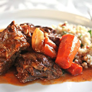 Moroccan Pot Roast With Dried Cherry Couscous.
