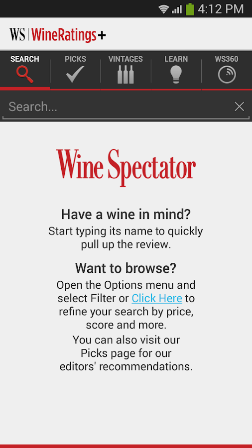 WineRatings+ (Trial)- screenshot