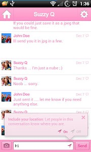 Pink for Facebook Messenger screenshot 2
