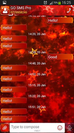 GO SMS Proのレッドスター