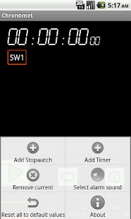 Chronomet timer and stopwatch - screenshot thumbnail