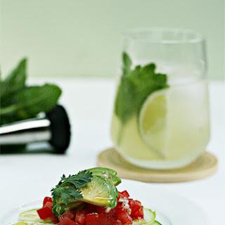Cucumber and Avocado Ceviche.