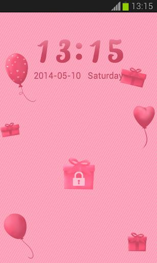 GO鎖屏可愛的粉紅色