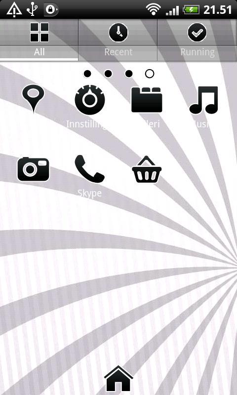 Black GO Launcher EX Theme- screenshot