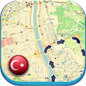Turkey offline Map Guide News icon