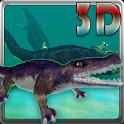 Crocodile Aquarium 3D  LWP HD icon