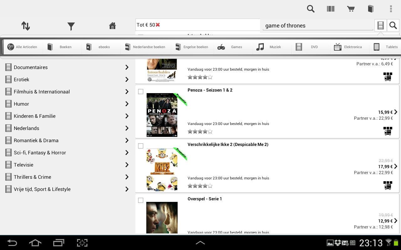 de Winkel -  app voor bol.com- screenshot