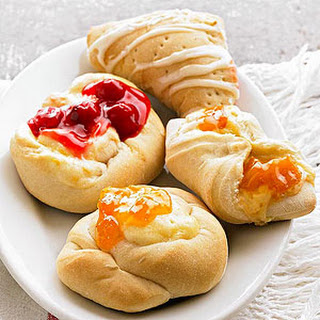 Danish Fruit and Cheese Pastries.
