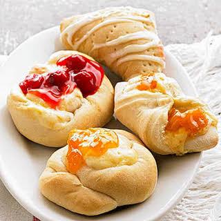 Danish Fruit and Cheese Pastries.