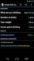 Screenshot of Blood Alcohol Calculator