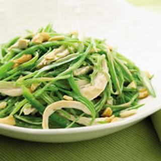 Warm Snow-Pea and Chicken Salad