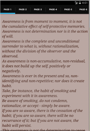 Awareness by J.Krishnamurti